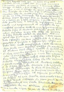 La prima delle quattro pagine manoscritte di Pasquale Tortora