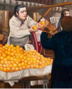Enrico Fornaini, La baronessa, olio su tavola, 2013, 35 x 25 cm